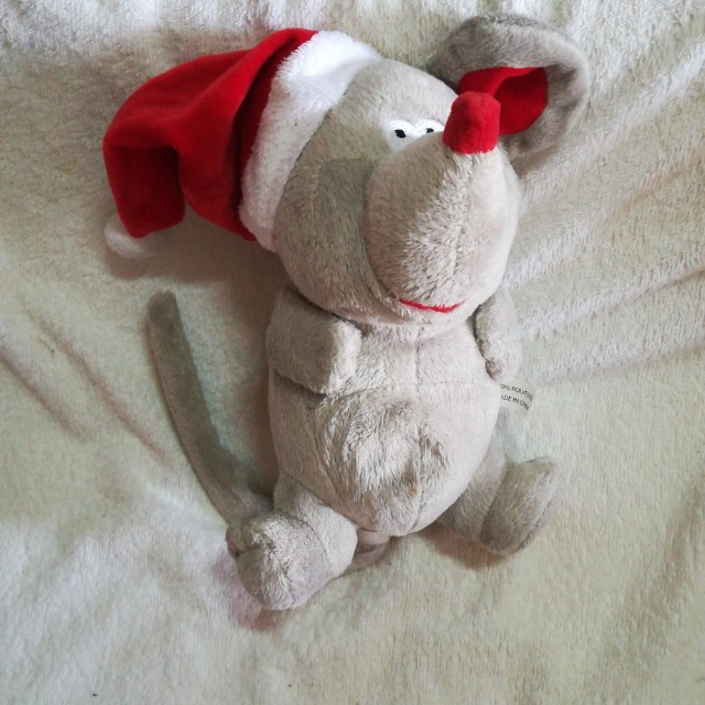Christmas Rolling Laughing Motion Plush Rat / Mouse