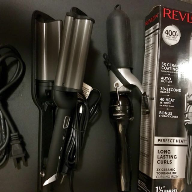 "COMBO SALE: Deep waver and curling Iron ( 1 1/2"" barrel,3x ceramic tormaline)"
