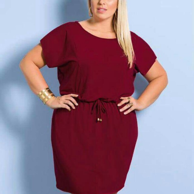 💋Crepe Drawstring Plus Size Dress 💫Crepe fabric, thick and comfy  💫Garterized with drawstring  💫Batwing Sleeve design  💫Free size fits up to XXL 💫Color: maroon, black, navy blue 💫Good quality
