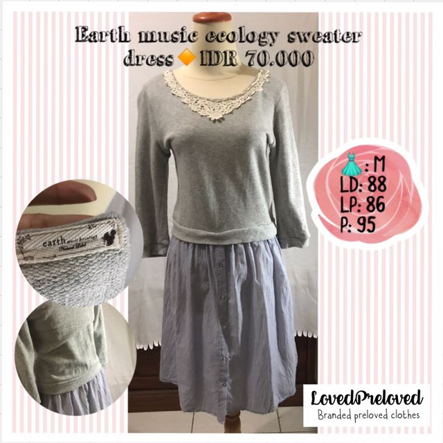 Earth music ecology sweater dress