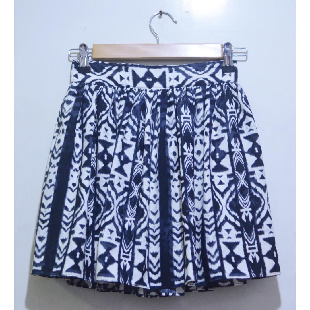 ERICA Aztec Print Flare Skirt