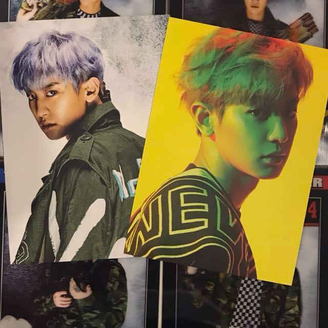 EXO Chanyeol Power Postcards