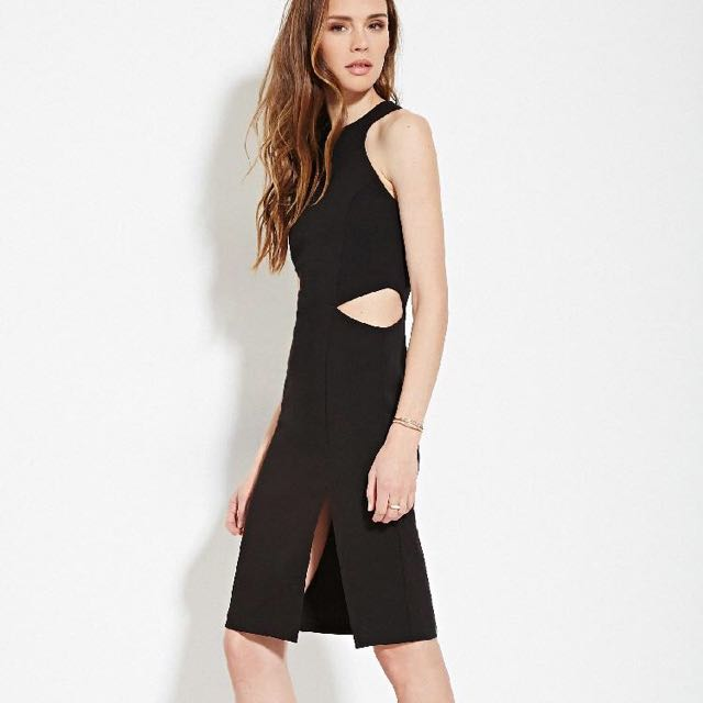 Forever 21 side cutout dress