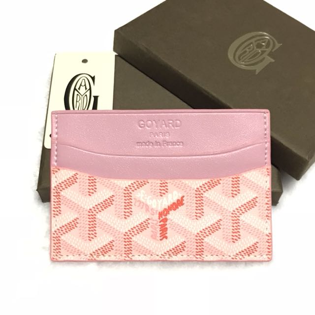 goyard pink card holder wallet mens fashion bags wallets on carousell - Pink Card Holder