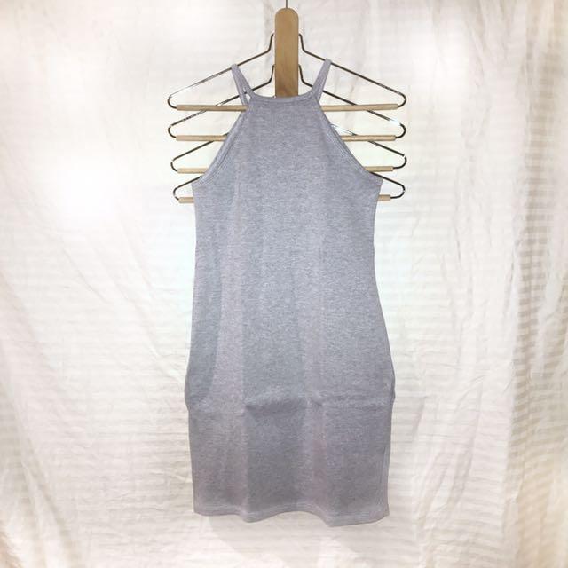Gray body con dress