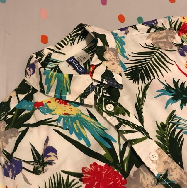 H&M Tropical Print Shirt XS
