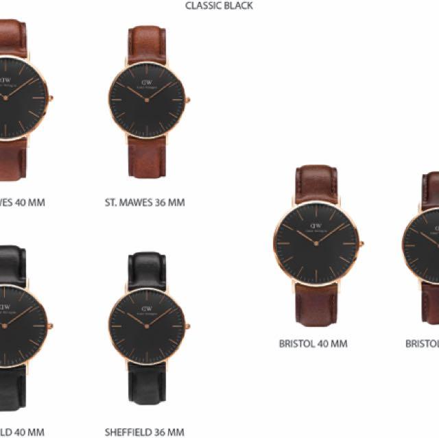Jam tangan daniel wellington semua jenis dan model
