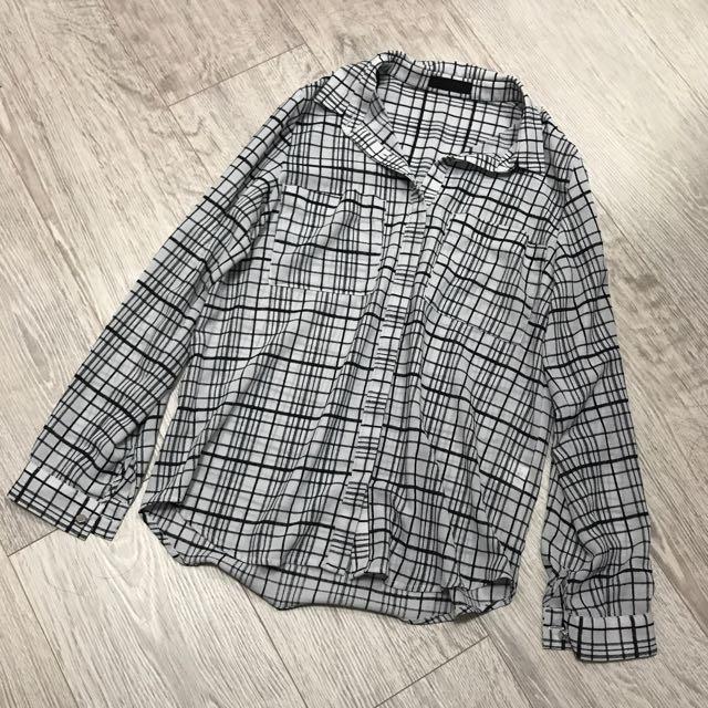 Jeanasis 雪紡寬鬆襯衫