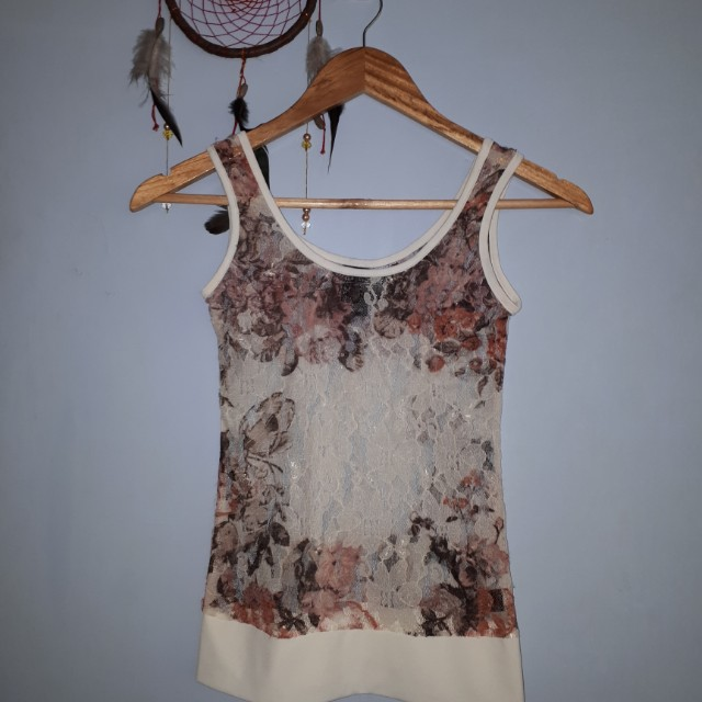 Kamiseta Sleeveless Lace Top