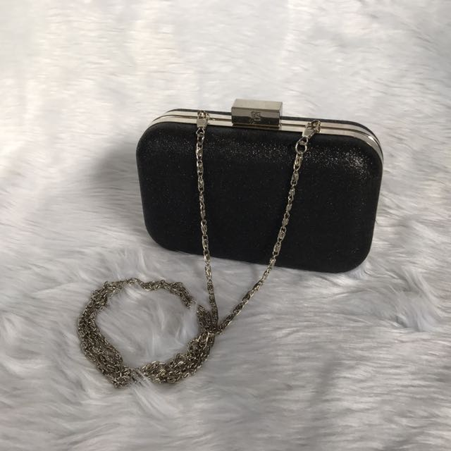 Lancôme evening clutch w detachable chain strap