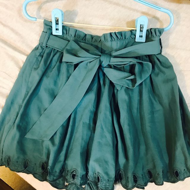 Lawrys farm雪紡綁帶花瓣裙擺褲裙