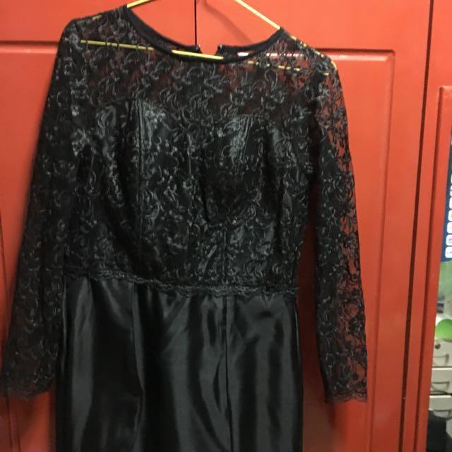 Long Black dress gown