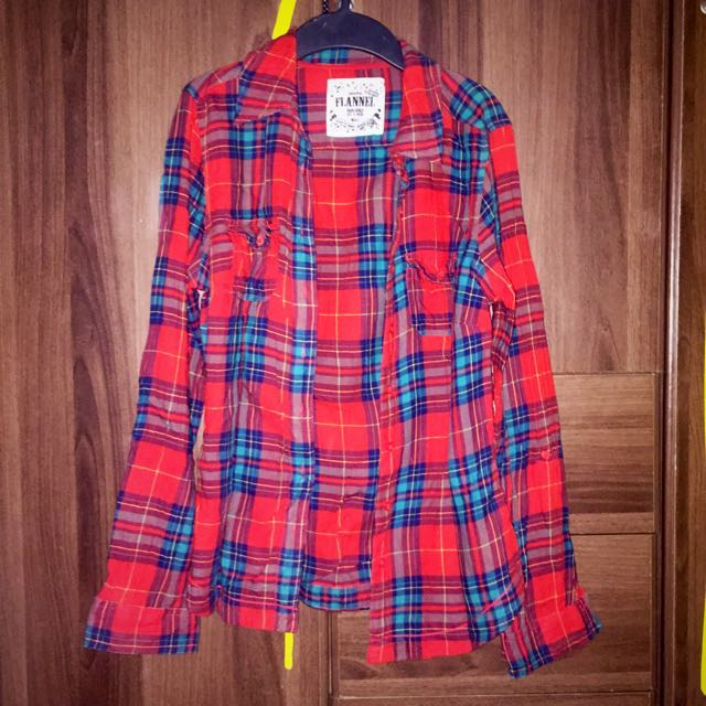 marks and spencer red plaid