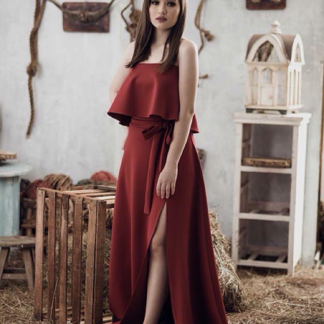 Maroon Sophistique Dress Apartment Eight Women S Fashion Clothes Skirts On Carou
