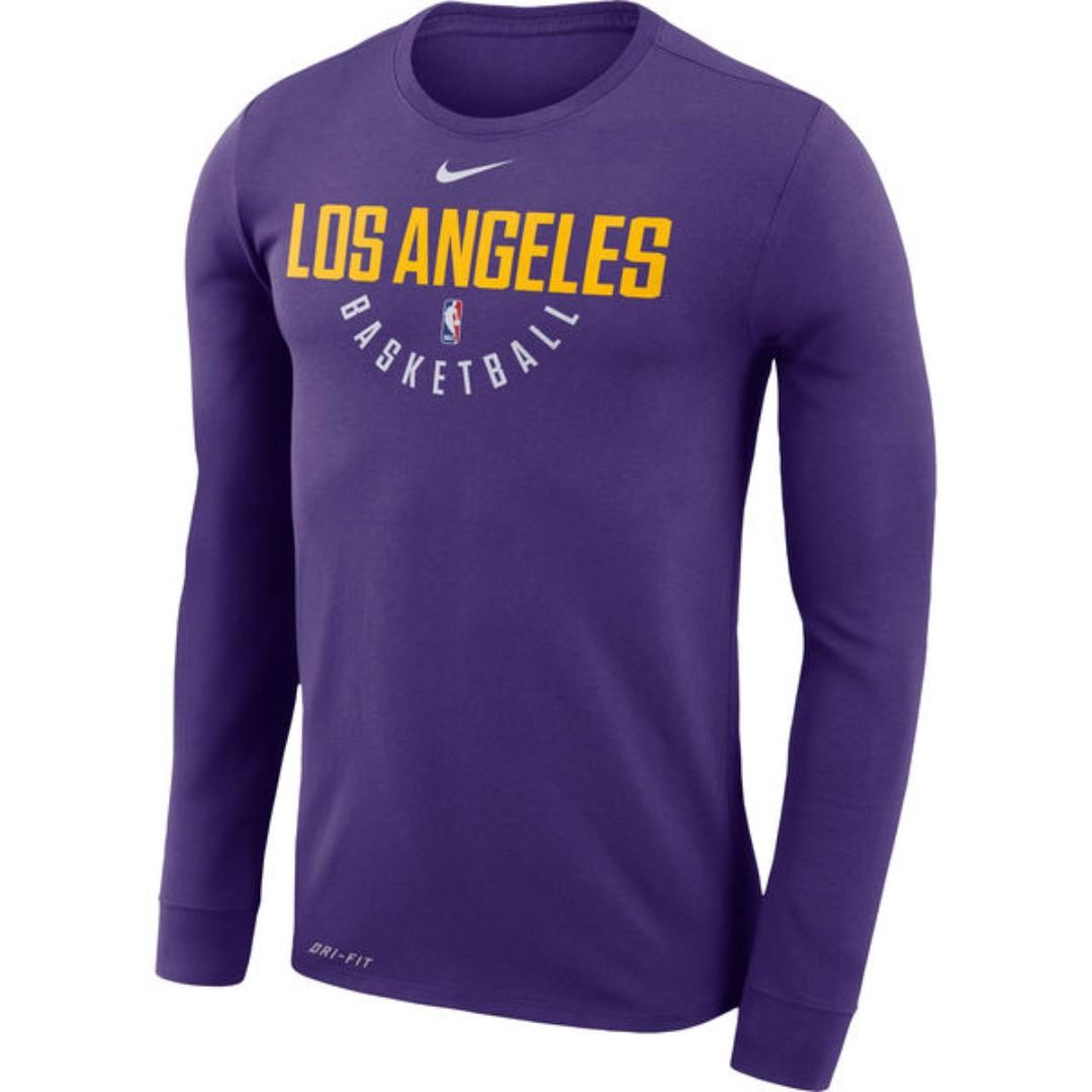 c2188d4be Men s Los Angeles Lakers Nike Purple Practice Long Sleeve ...