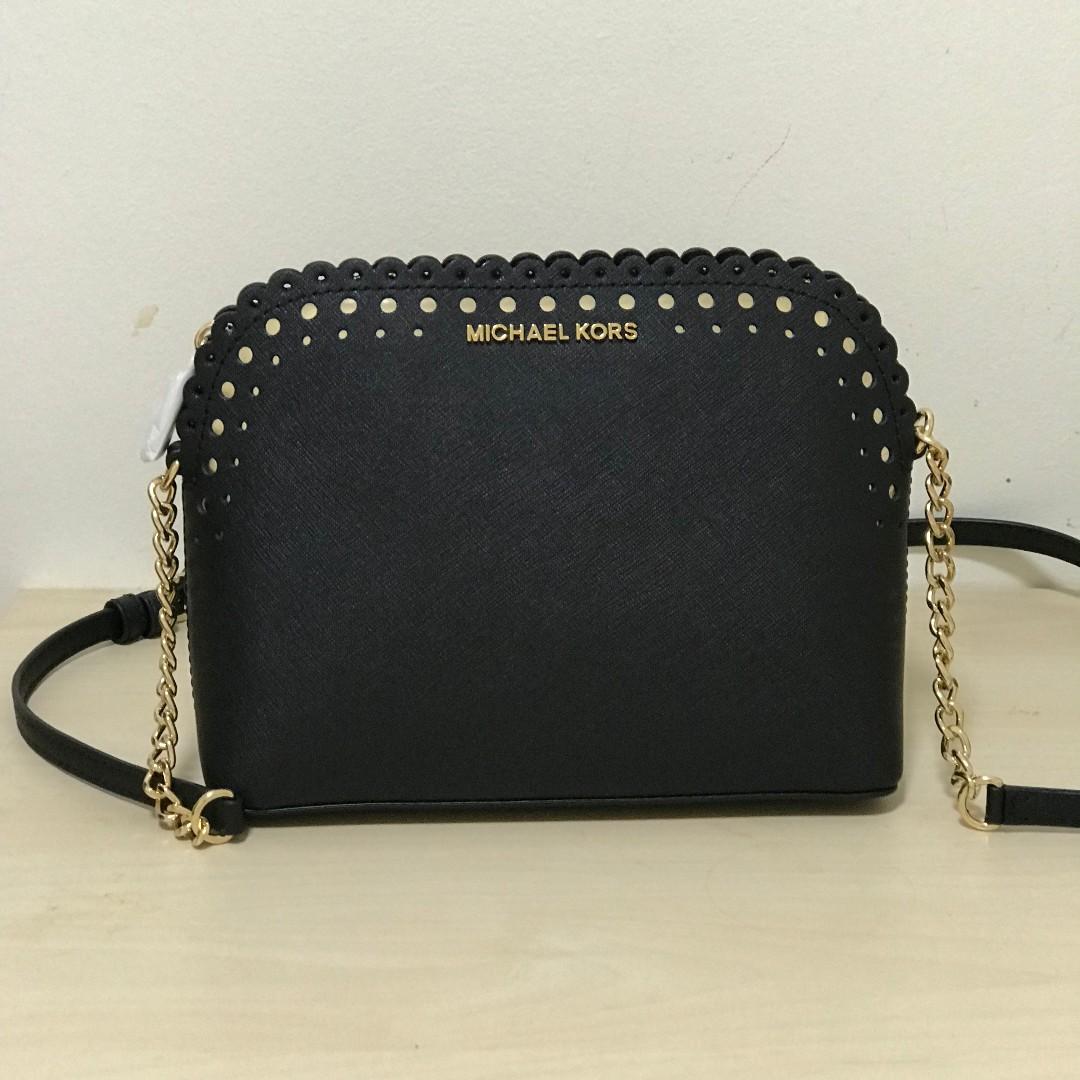 Michael Kors Violet Cindy Dome Crossbody Bag