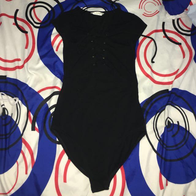 Miss Selfridge Bodysuit black