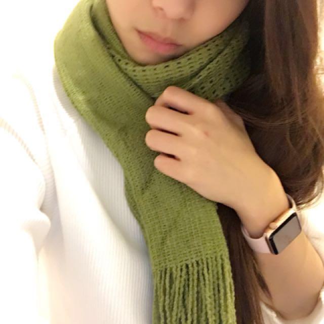 NET青草綠女用圍巾🧣