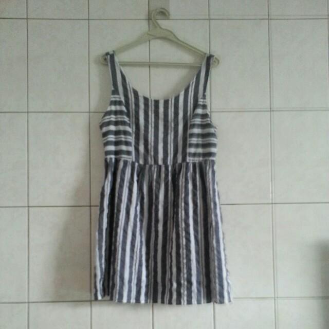NET藍條紋連身洋裝 #舊愛換新歡