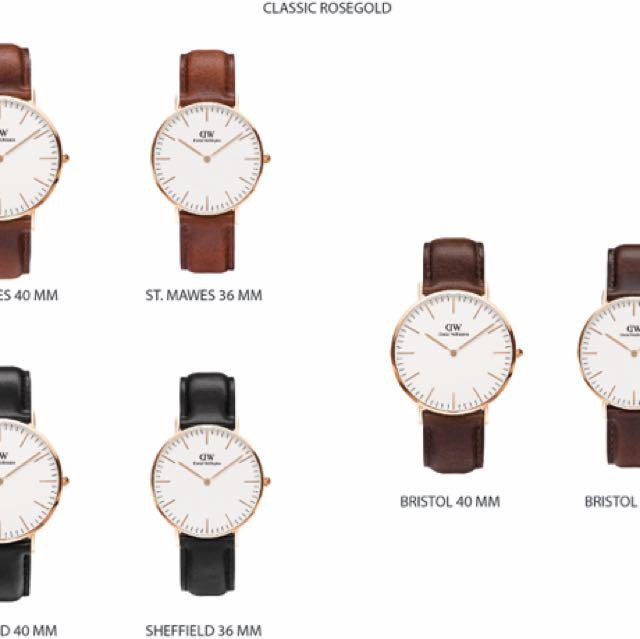 New daniel wellington watch 100% original