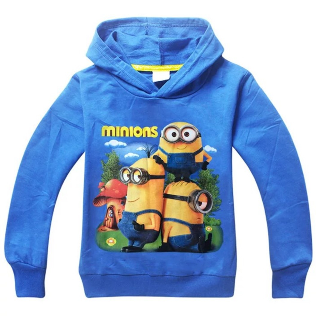 (NEW) Minion Hoodie Long Sleeve Top Shirt Outwear