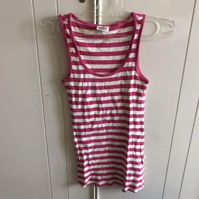 (NEW) Pink Stripes Tank