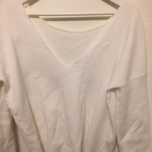 Oak + Fort Backless knit sweater