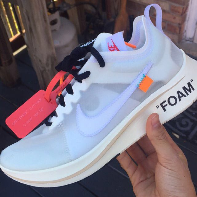 93ac4d2f349a7 OFF WHITE X NIKE ZOOM FLY 1 1 PREMIUM QUALITY SNEAKERS