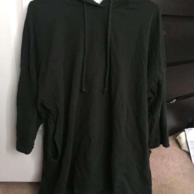 Olive Green - Zara Oversized Hoodie