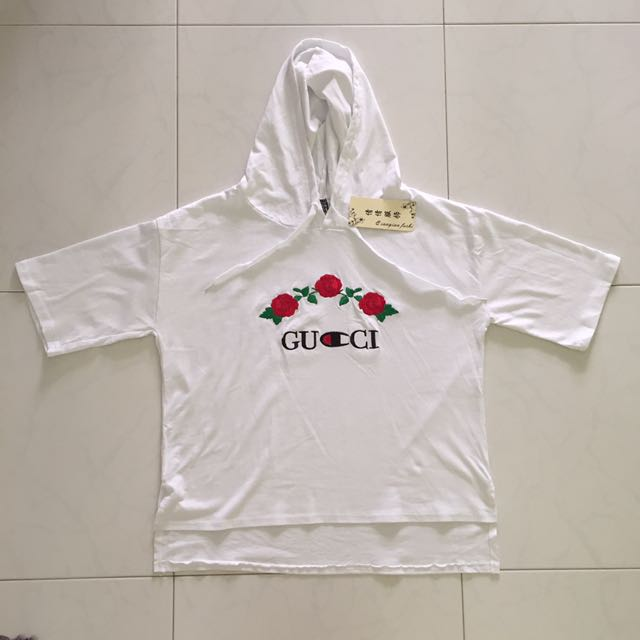 2dc76324 Oversized Gucci Inspired Hoodie Tee, Women's Fashion, Clothes, Tops on  Carousell