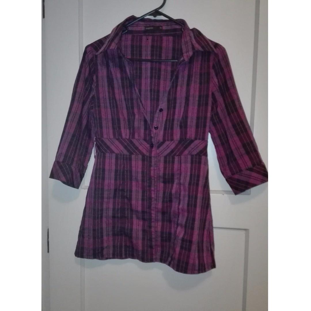 pagani purple plaid shirt