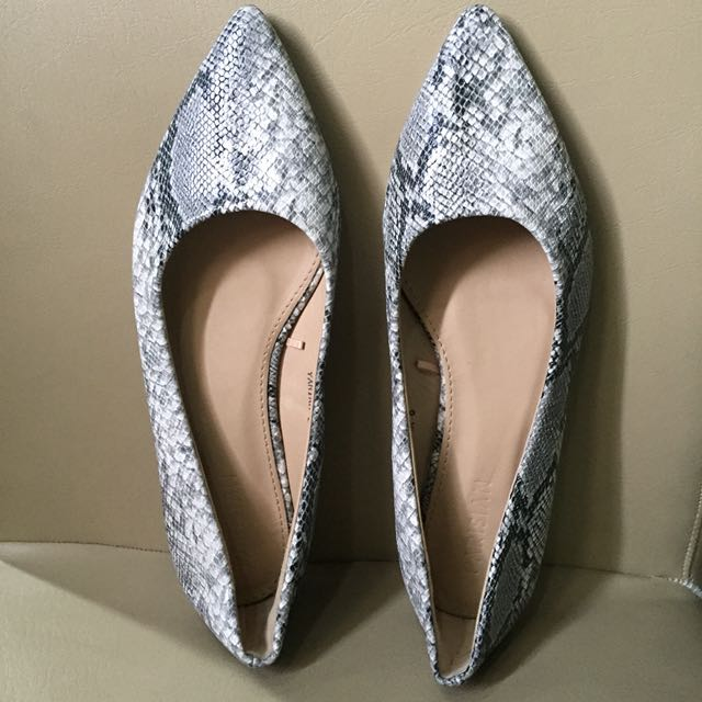 Parisian Snake skin doll shoes