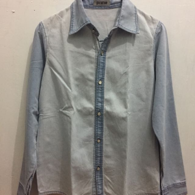 Pixie denim blouse