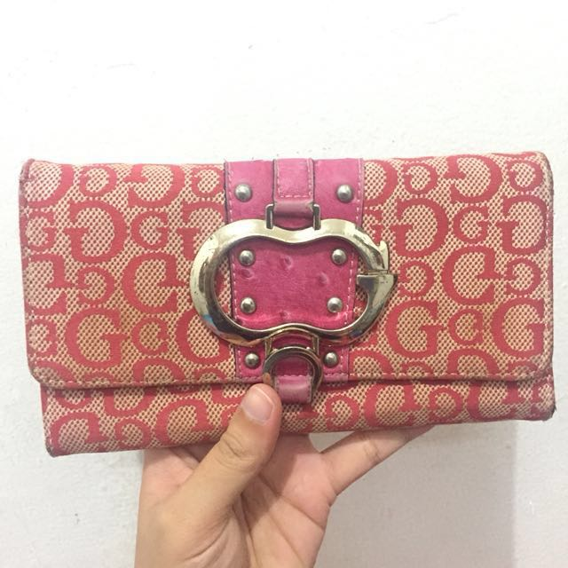 Preloved dompet guess original kulit asli