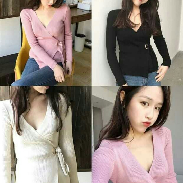 [PREORDER] Deep V Knitted Top