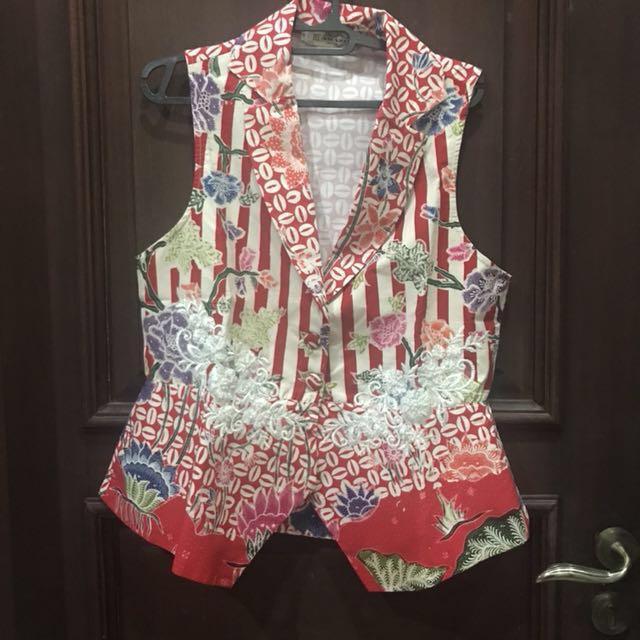 Red vest batik (new) ada bordiran