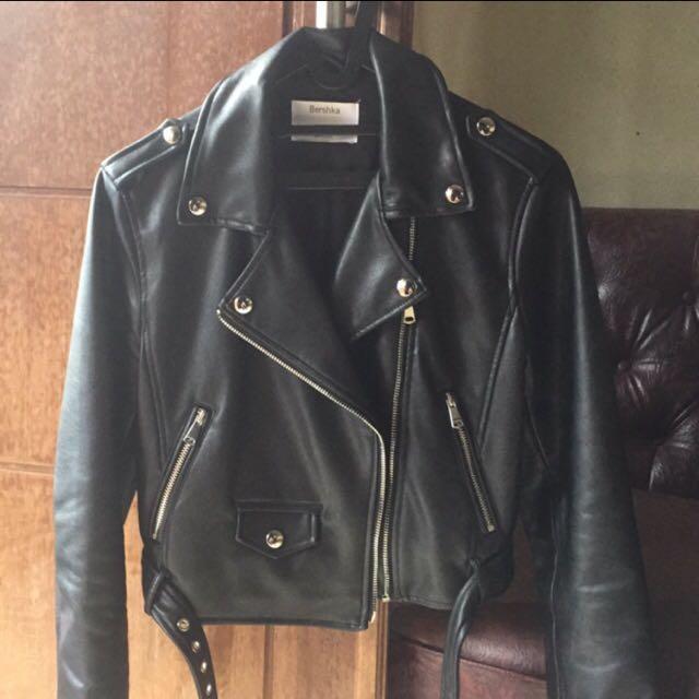 REPRICE !!! Bershka Leather Biker Jacket