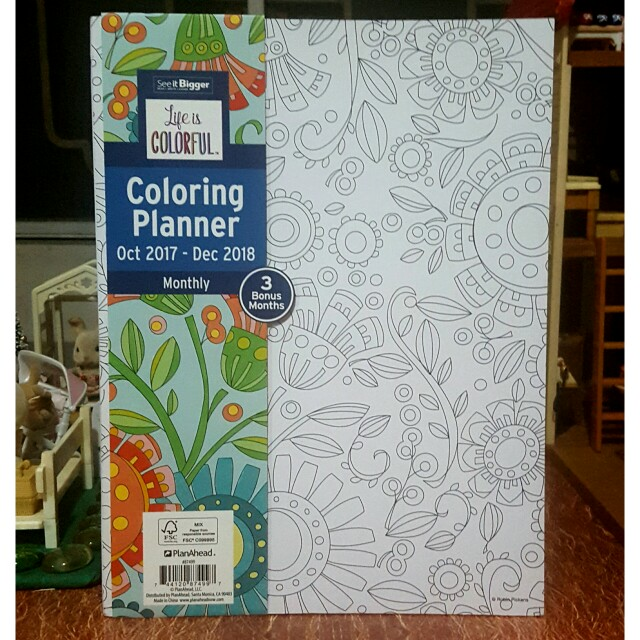 See It Bigger PlanAhead Coloring Planner 2018