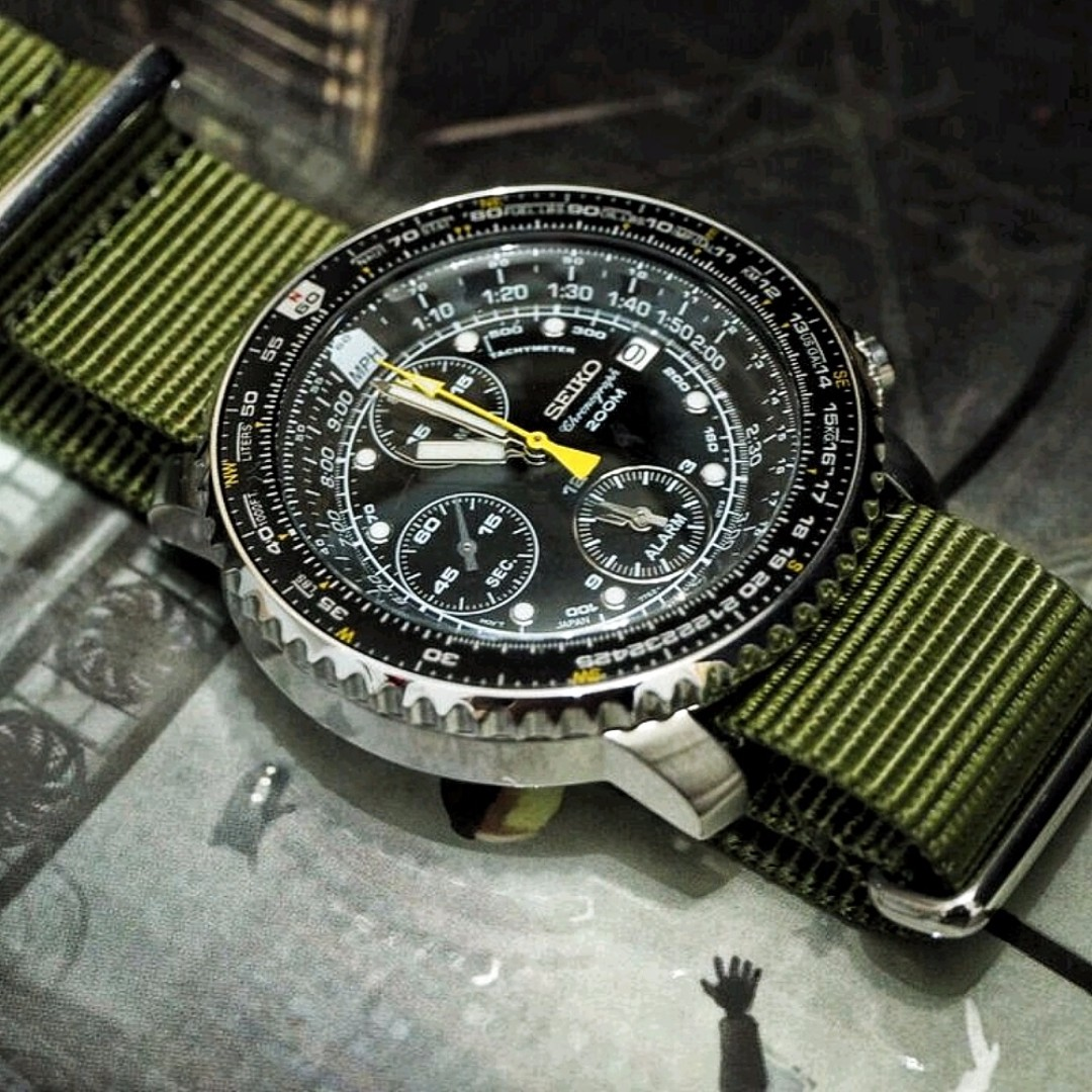 SEIKO FLIGHTMASTER SNA411 PILOT CHRONOGRAPH, Men's Fashion, Watches on Carousell