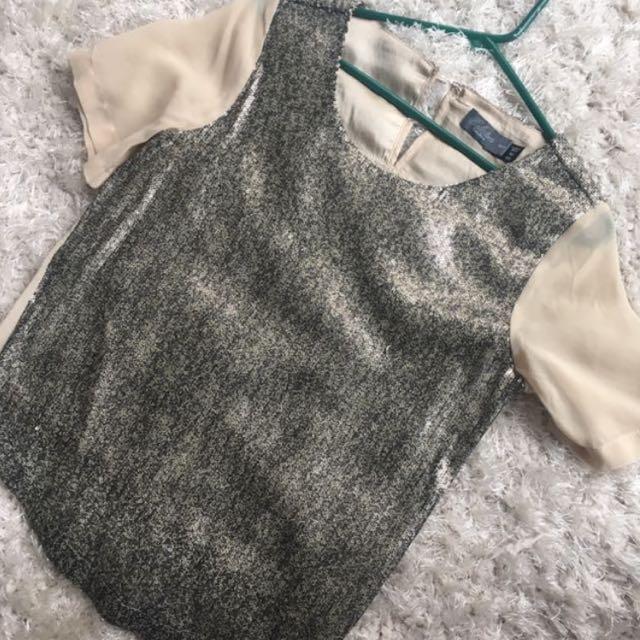 Sequins chiffon shirt