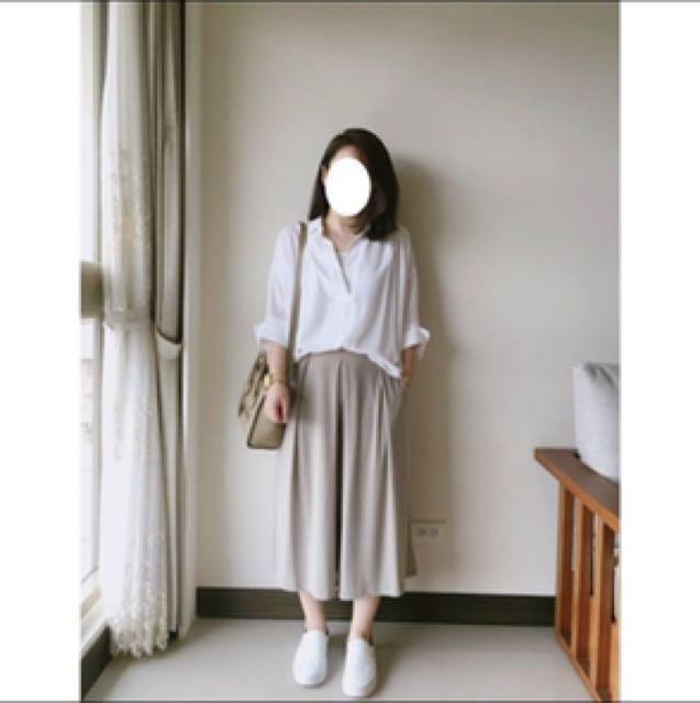 降價🚩轉賣*正韓*SHIN★大推薦!高磅數摺線萊卡褲裙★