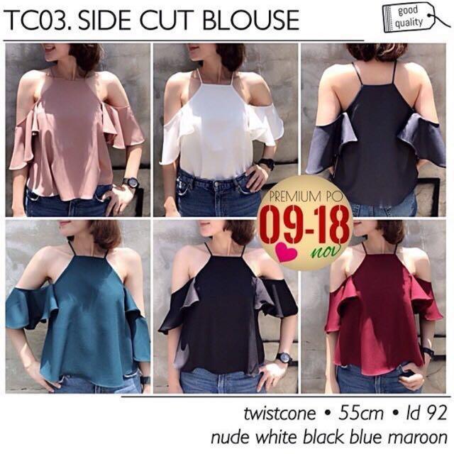 side cut blouse / top