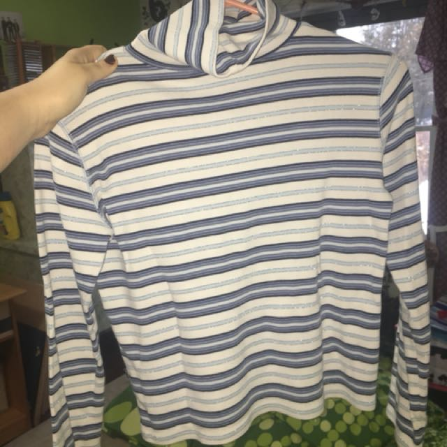 Small striped turtleneck shirt