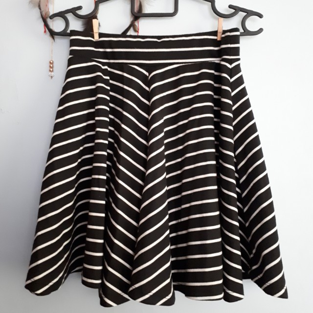 Stripes Skater Skirt