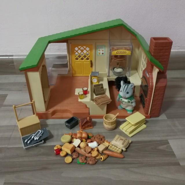 Sylvanian Family Bakery Toys Games Bricks Figurines On Carousell