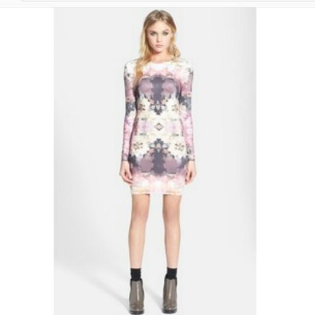 Topshop bodycon stretch floral dress