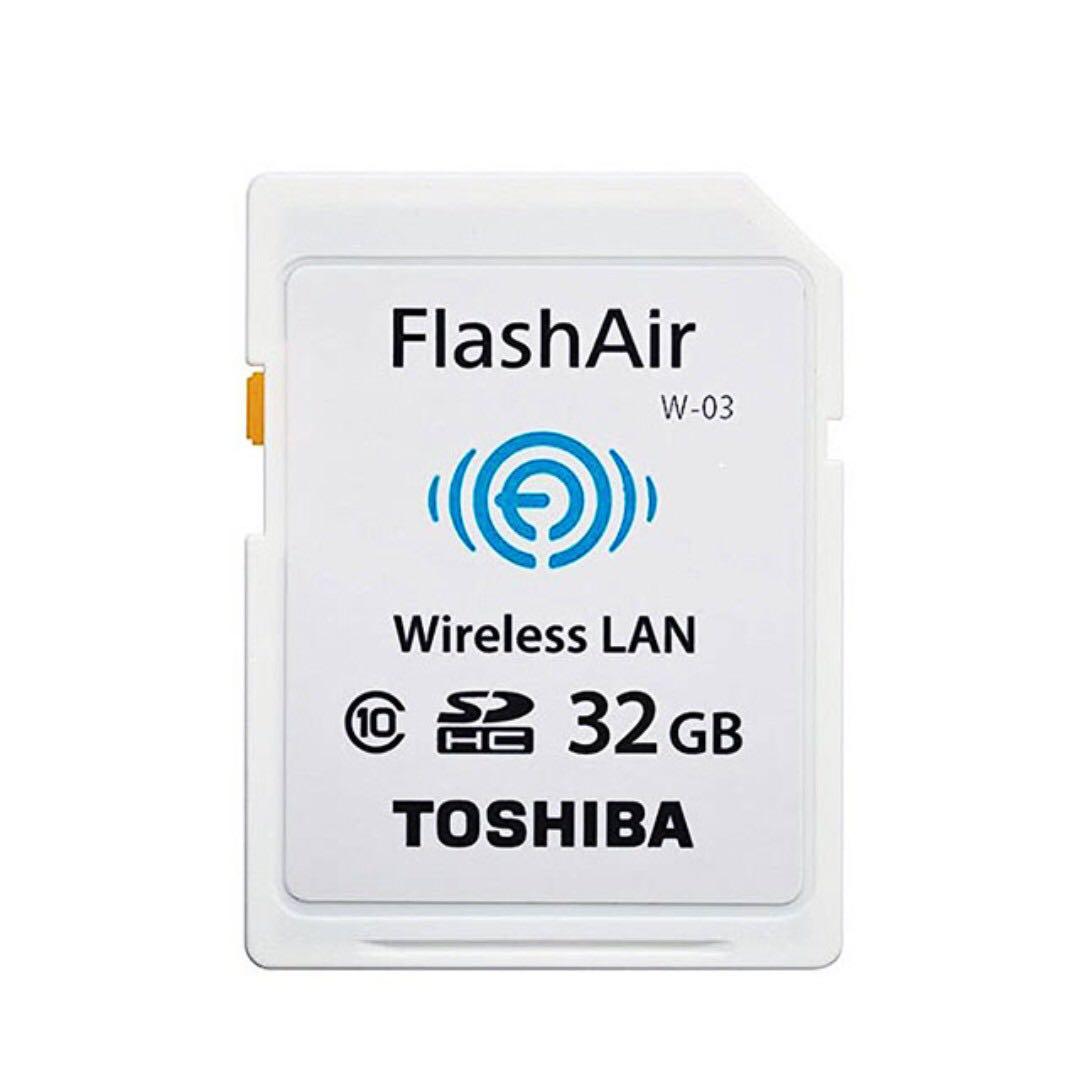 【TOSHIBA】32G FlashAir SDHC Class10 無線傳輸記憶卡(原廠公司貨)