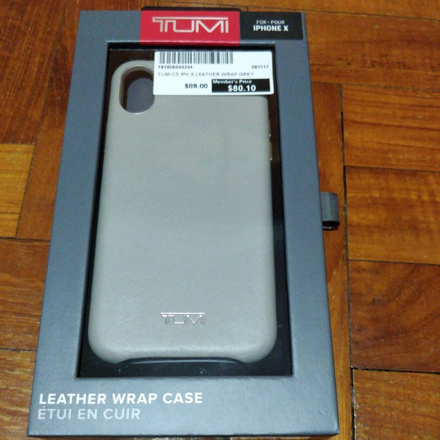 huge selection of 3b1e8 d47da Tumi case leather wrap grey for iphone X