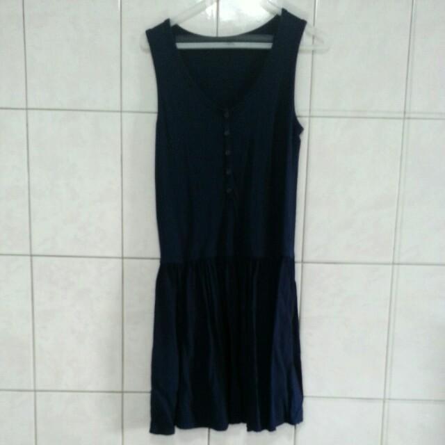 uniqlo棉質洋裝(深藍)s #好物任你換 #舊愛換新歡