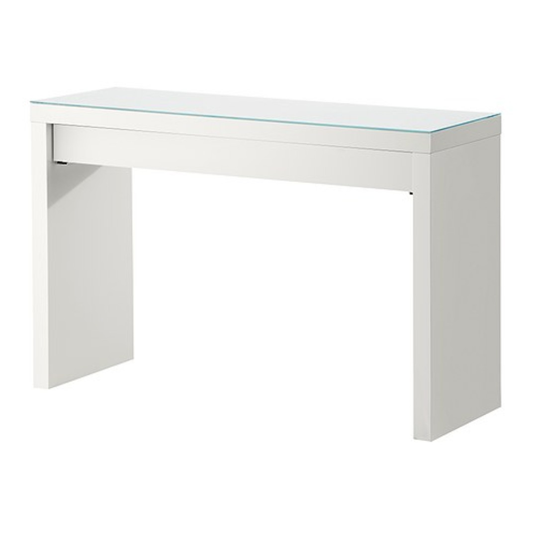 Used Ikea Malm Dressing Table White And Nissedal Mirror Home Furniture On Carou